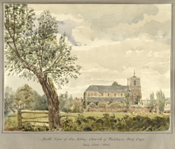 North View of the Abbey Church of Waltham Holy Cross July 11th 1848